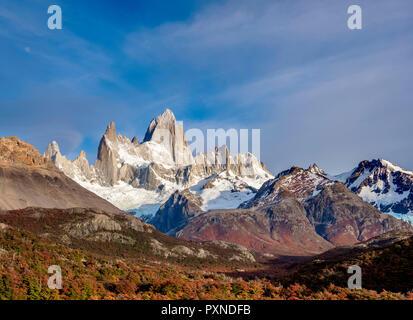 Monte Fitz Roy, el Parque Nacional Los Glaciares, provincia de Santa Cruz, Patagonia, Argentina