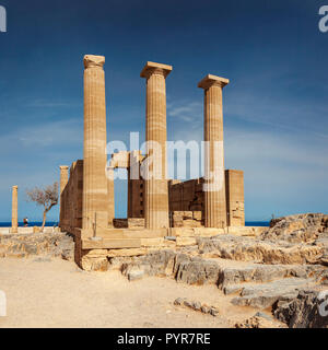El Templo de Atenea en Lindos. Rodas, Grecia.