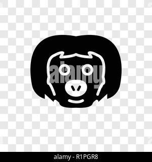 Pereza icono vectorial aislado sobre fondo transparente, sloth transparencia concepto logotipo