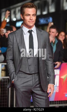 62ª edición del Festival de Cine de Londres - El Rey Outllaw - Premiere con: Chris Pine donde: Londres, Reino Unido cuando: 17 Oct 2018 Crédito: WENN.com Foto de stock