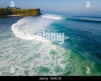 Indonesia, Bali, vista aérea de la playa Balngan Foto de stock