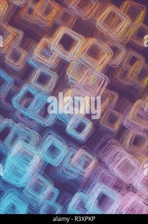 Ilustración 3D. Resumen artístico estructura tubular. Imagen con luz y colorido de la sombra.