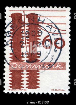 Sello de Dinamarca en las industrias danesas serie publicada en 1968