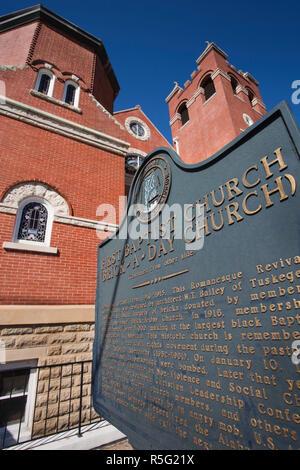 Estados Unidos, Alabama, Montgomery, Primera Iglesia Bautista