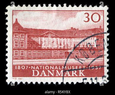 Sello de Dinamarca en el Museo Nacional serie publicada en 1957