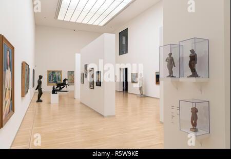 Interior de la Galería Nacional de Dinamarca (Statens Museum for Kunst), Copenhague, Dinamarca