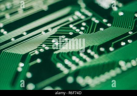 Close-up detalle de placa de circuito electrónico Foto de stock