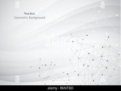 Antecedentes geométricos abstractos conectados con líneas y puntos.