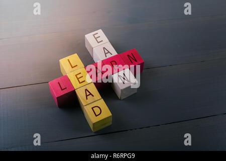 Concepto de liderazgo educativo y el éxito empresarial