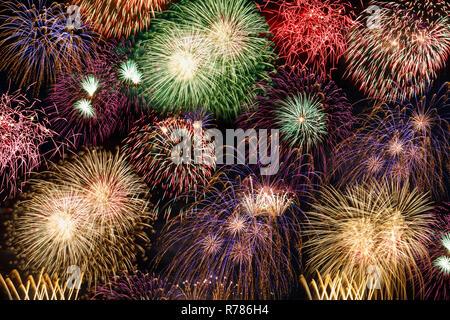 De víspera de Año Nuevo con fuegos artificiales Fuegos artificiales año años Antecedentes Antecedentes