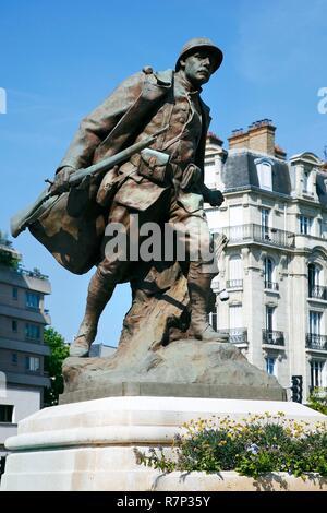 Francia, Val de Marne, Charenton, Place de l'Eglise, War Memorial