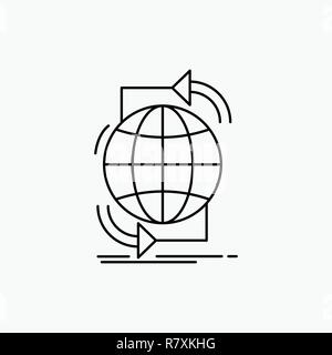 Conectividad global, internet, red, web Icono de línea. Vector ilustración aislada