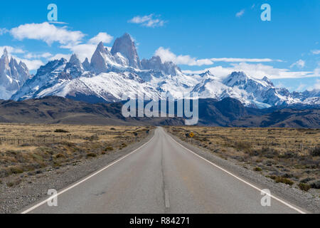 Camino al Monte Fitz Roy en Argentina