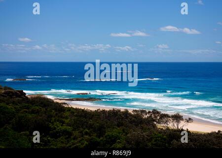 Vista costera en Point Lookout, North Stradbroke Island, Queensland, Australia