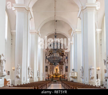 Interior de la iglesia de St Johns (Iglesia de St Johns, San Juan Bautista y San Juan el Apóstol y Evangelista ), de la Universidad de Vilnius, Vilna, Lituania