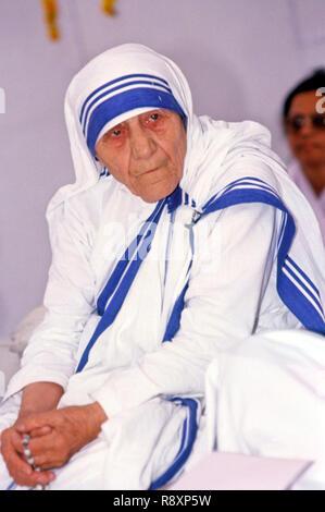 Madre Teresa , Santa , Madre María Teresa Bojaxhiu , Santa Teresa de Calcuta , monja y misionera , India , Asia Foto de stock