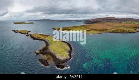 Antena del Clagain Coral Beach en la Isla de Skye - Escocia.