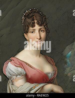 Retrato de Hortense de Beauharnais, Reina de Holanda, Anne Louis Girodet-Trioson, c. 1805 - c. 180. Reinventado