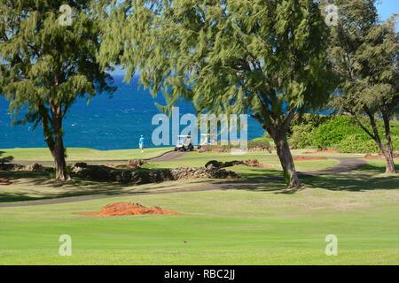 Kapalua, Maui, Hawai.exclusivo enclave turístico con hoteles, residencias elegantes, campos de golf de clase mundial, playas y restaurantes.