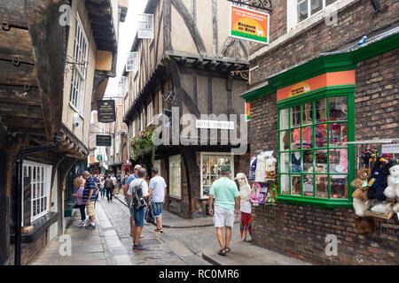 'The Shambles' medieval Street, Newgate, York, North Yorkshire, Inglaterra, Reino Unido