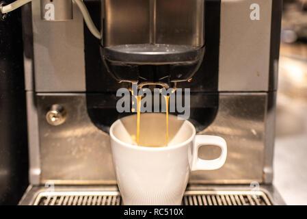 Máquina espresso de vapor industrial de leche y café