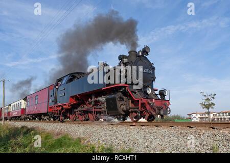 Tren de vapor, Kuehlungsborn 'Molli' Oeste, Mar Báltico, Mecklemburgo-Pomerania Occidental