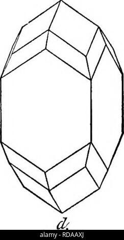 . Piedras preciosas, un relato popular de sus personajes, ocurrencia y aplicaciones, con una introducción a su determinación, mineralogistas, lapidaries, joyeros, etc. con un apéndice sobre perlas y corales. Piedras preciosas, perlas, corales. El zircón de otras formas se muestra en las 341 figuras son las asumidas por terminación común, el circón. El zircón tiene un clivaje muy imperfecta, difícilmente observables en realidad; su fractura es claramente conchoidal. El mineral es más duro que el cuarzo, pero más suave que el topacio, su dureza está representada en la escala por 7^ ; esto no es muy grande, pero es suffici Foto de stock