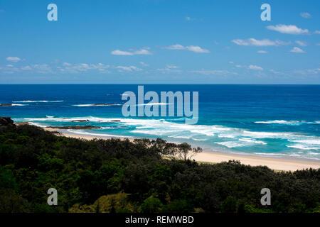 Un punto de vista costera Lookout, North Stradbroke Island, Queensland, Australia