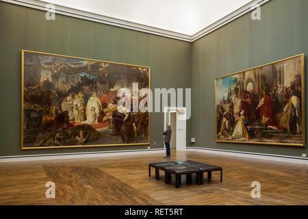 Pintura, Thusnelda en el Triunfo de Germanicus, 1873/74 por Carl Theodor von Piloti, Neue Pinakothek, Munich, Alta Baviera