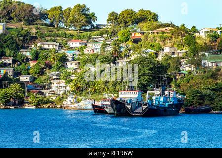 Castries Santa lucía una de las Islas de Barlovento en el Caribe.