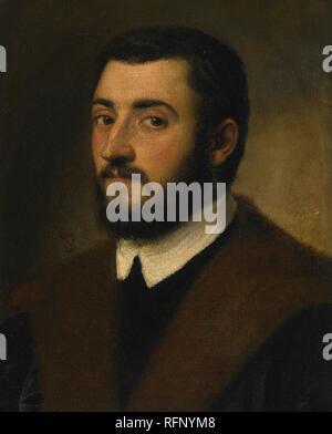 Escuela de Jacopo Robusti, llamado Jacopo Tintoretto retrato de un hombre barbado.jpg - RFNYM8