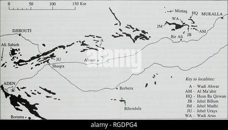 . Boletín del Museo Histort Natural. Geología series. Jurásico y Cretácico Inferior 25 Formación de Wadi Hajar, ciertamente ha caído desde el shelly arenisca. 5 m de espesor en la base de la formación Qishn inmediatamente superior. Es Hauterivian superior en edad, y es la primera fecha obtenida por esta parte basal de la formación. La piedra caliza es generalmente Orbitolina reconocieron ser Barremian superior en la edad de los foraminíferos [Palorbitolina lenticularls (Blumenbach) y Choffatella deciplens Schlumberger) que contenga (Beydoun, 1968: 92). Tres ammo- noches fueron grabados por Beydoun, 196