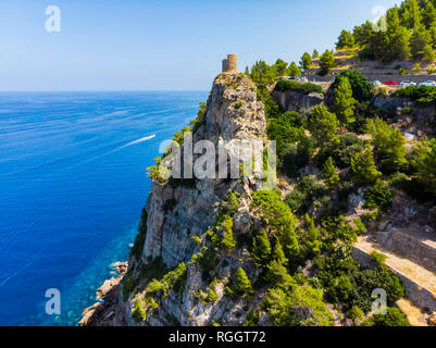 España, Baleares, Mallorca, Región de Andratx, Costa oeste, Serra de Tramuntana, la Torre de Es Verger
