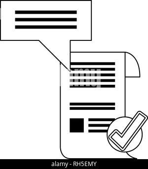 Contrato de patente comprobante seguro copyright ilustración vectorial