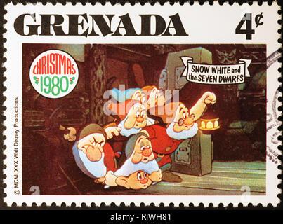 Seven Dwarfs en sello de Granada