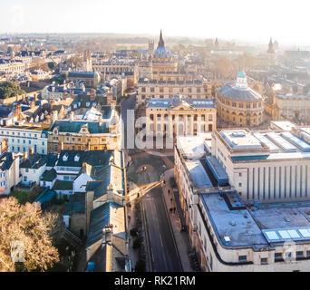 Vista aérea de Oxford, Reino Unido