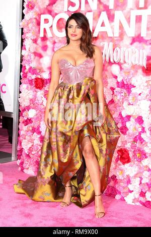 Los Angeles, CA, EE.UU. El 11 de febrero, 2019. LOS ANGELES - FEB 11: Priyanka Chopra en el ''No'' Romántica estreno mundial en el teatro en el Ace Hotel el 11 de febrero de 2019 en Los Angeles, CA. Crédito: Kay Blake/Zuma alambre/Alamy Live News
