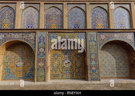 Mosaico persa en Palacio Golestan