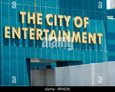 La ciudad de entretenimiento, Las Vegas, Nevada, EE.UU.