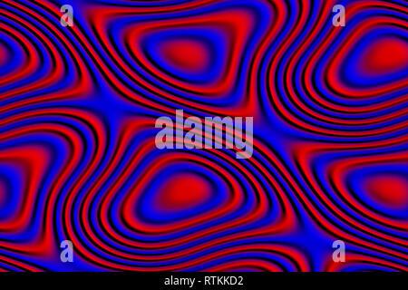 Abstracta y futurista de textura 3D en colores rojo y azul