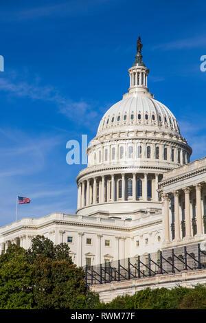 El edificio del Capitolio de los Estados Unidos, Washington, D.C., Estados Unidos de América