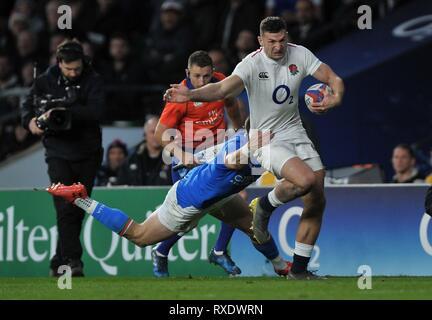 Londres, Reino Unido. 09Mar, 2019. Jonny Mayo (Inglaterra). Inglaterra contra Italia. Guinness de las seis naciones de rugby. Twickenham Stadium. Crédito: Deporte en imágenes/Alamy Live News Foto de stock
