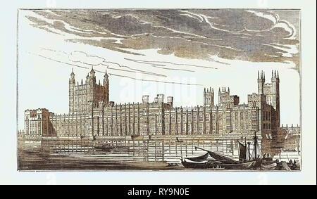 Las nuevas casas del parlamento, Westminster, London, UK