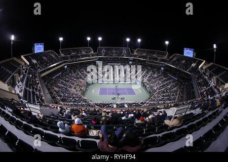 Los Angeles, California, EEUU. 13 Mar, 2019. Una vista del estadio principal de la BNP Paribas Torneo Abierto de Tenis el miércoles, 13 de marzo de 2019 en Indian Wells, California. Crédito: Ringo Chiu/Zuma alambre/Alamy Live News