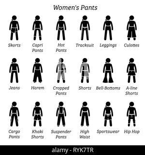 Denim Pantalones De Cintura Alta Moda Tema Ilustracion Vectorial Diseno Grafico Imagen Vector De Stock Alamy