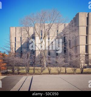 Regenstein library en la Universidad de Chicago. Foto de stock