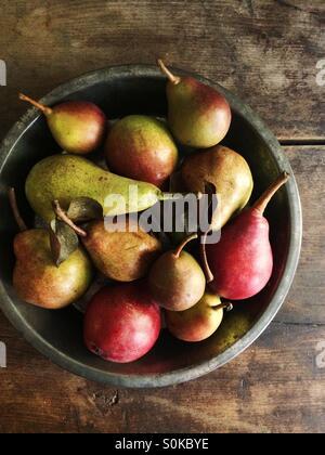 Una variedad de otoño las peras.