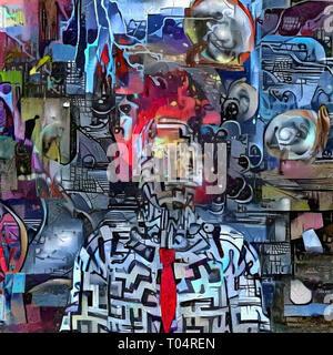 Composición surrealista. Mundo de Fantasía Foto de stock