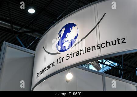 Leipzig, Alemania. 23 Mar, 2019. La Oficina Federal para la protección contra las radiaciones en la Feria del Libro. Crédito: Jens Kalaene/dpa-Zentralbild/ZB/dpa/Alamy Live News
