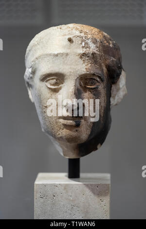 Copenhague. Dinamarca. Cabeza de un joven Lapith, del Partenón de Atenas. Museo Nacional de Dinamarca. Comprado en Atenas en el 1687 por un apagado naval danesa